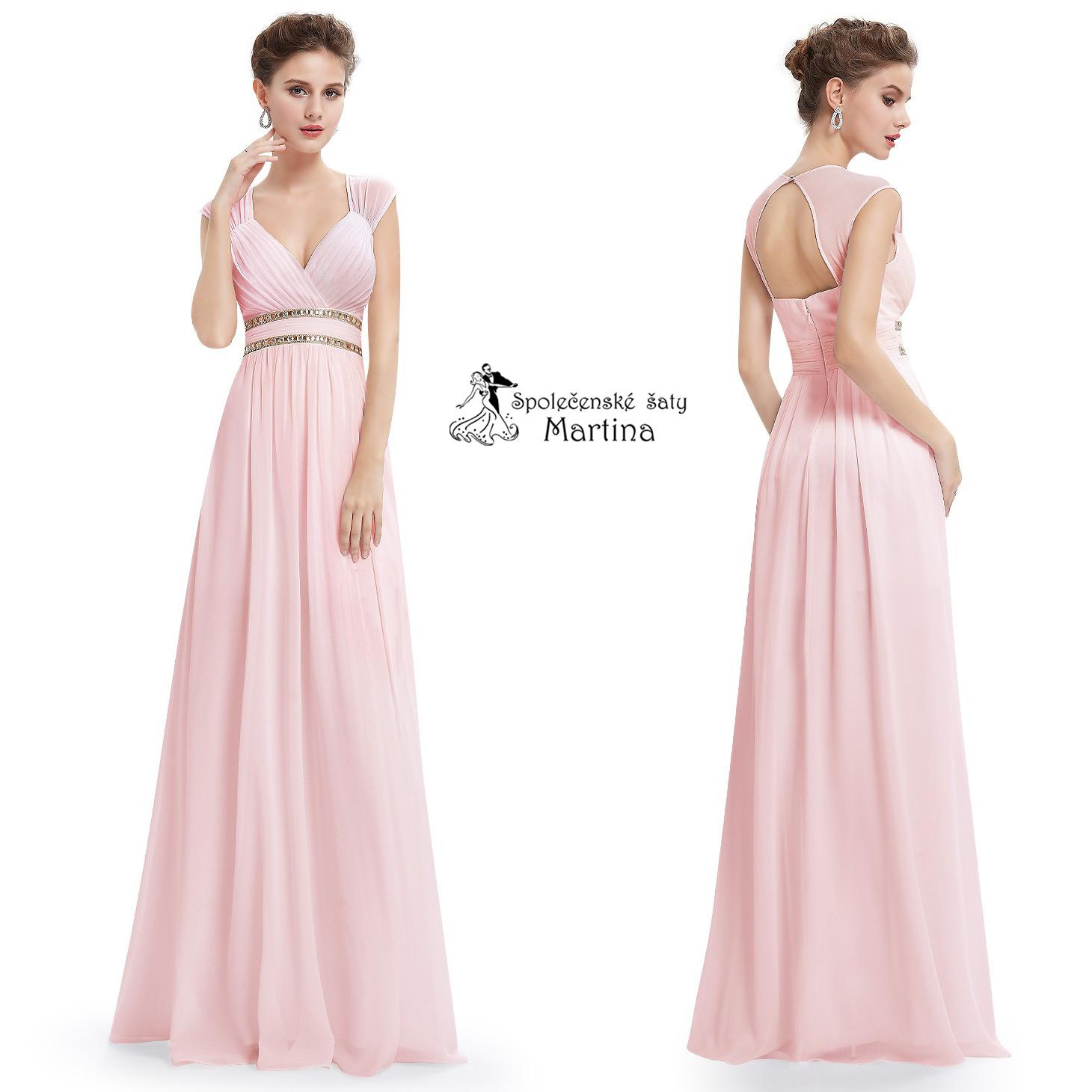 c74458279586 Růžové šaty pro družičky antického střihu Ever Pretty EP08697PK