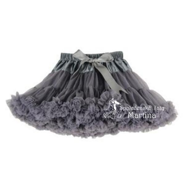 TUTU sukně 7-8 let (110) - tmavě šedá 7bcc440a3e