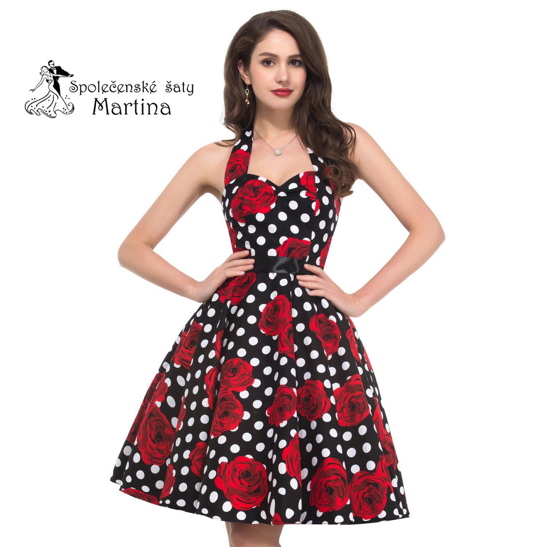 Vintage retro šaty 15815d7b43