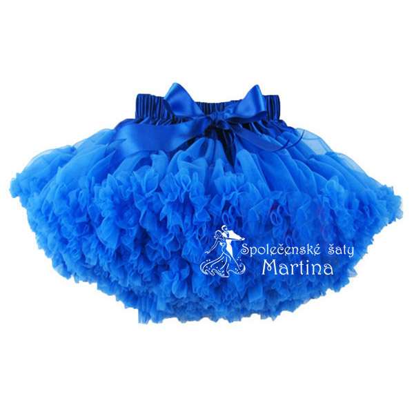 TUTU sukně 7-8 let (110) - modrá 0b66393f76