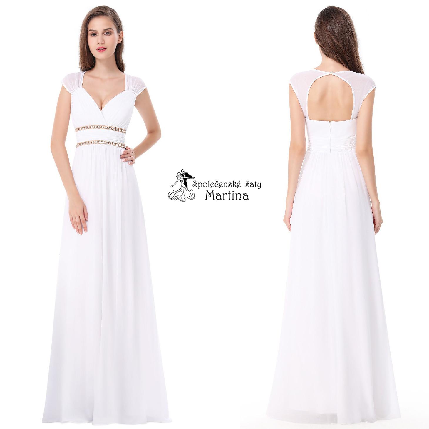 3cce7e35d6d9 Bílé šaty antického střihu