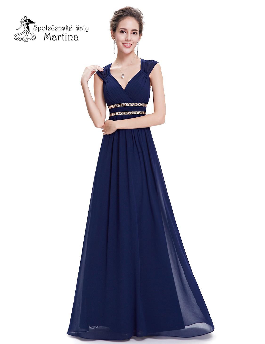 35781d5149a6 Tmavě modré společenské šaty antického střihu Ever Pretty vel. 38