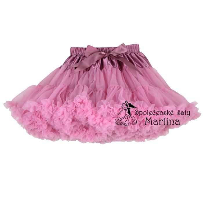 fba12ff03f9 TUTU sukně 1-10 let - středně růžová
