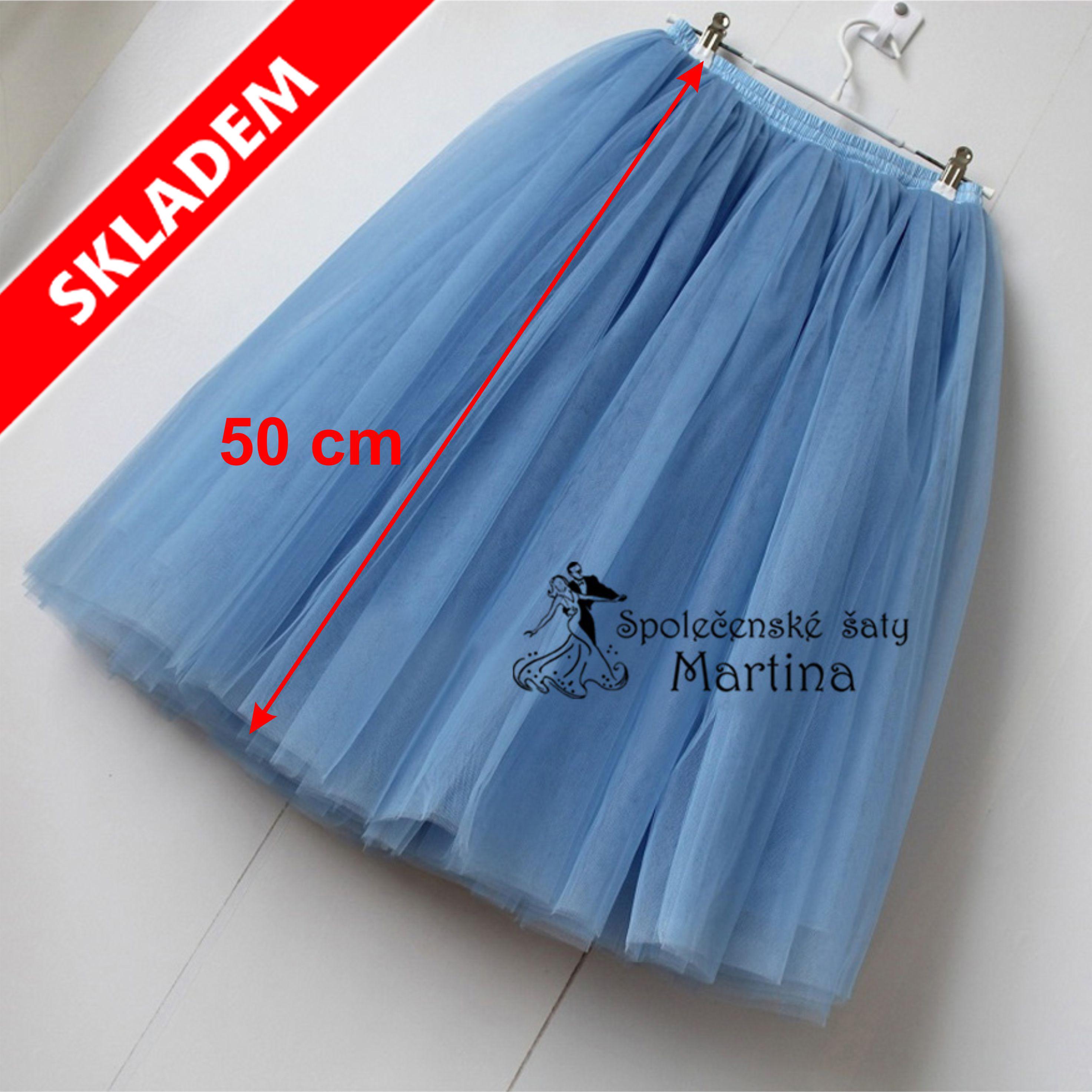 3fe29f7d582 7-vrstvá tylová sukně - 50 cm