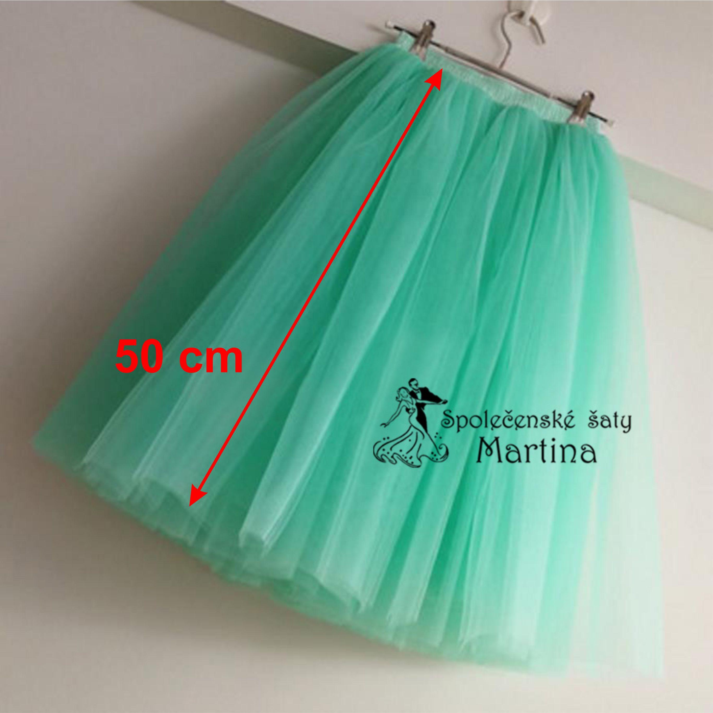 7-vrstvá tylová sukně - 50 cm 76497f0de5