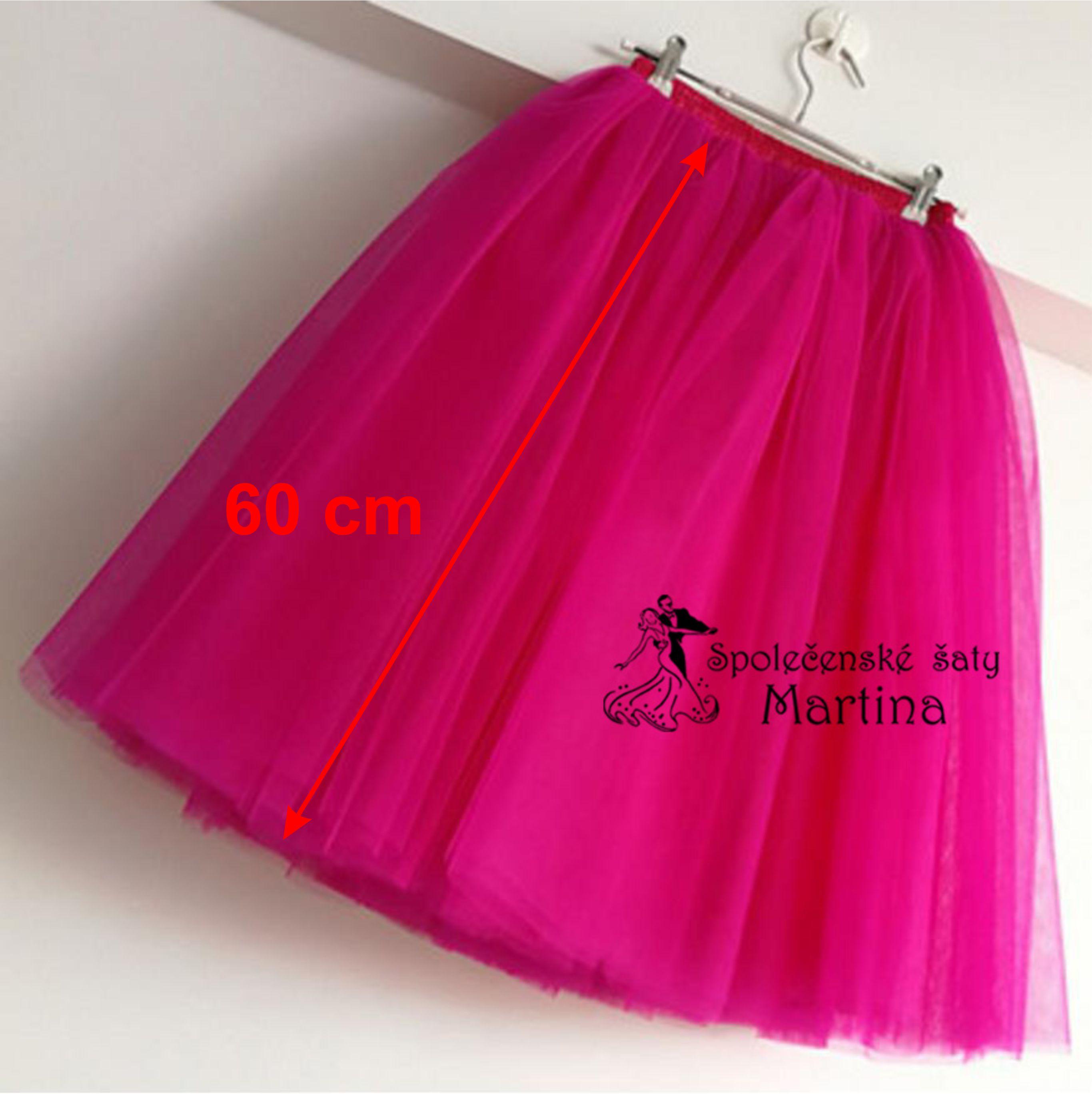d8b38bee6a2 7-vrstvá tylová sukně - 60 cm