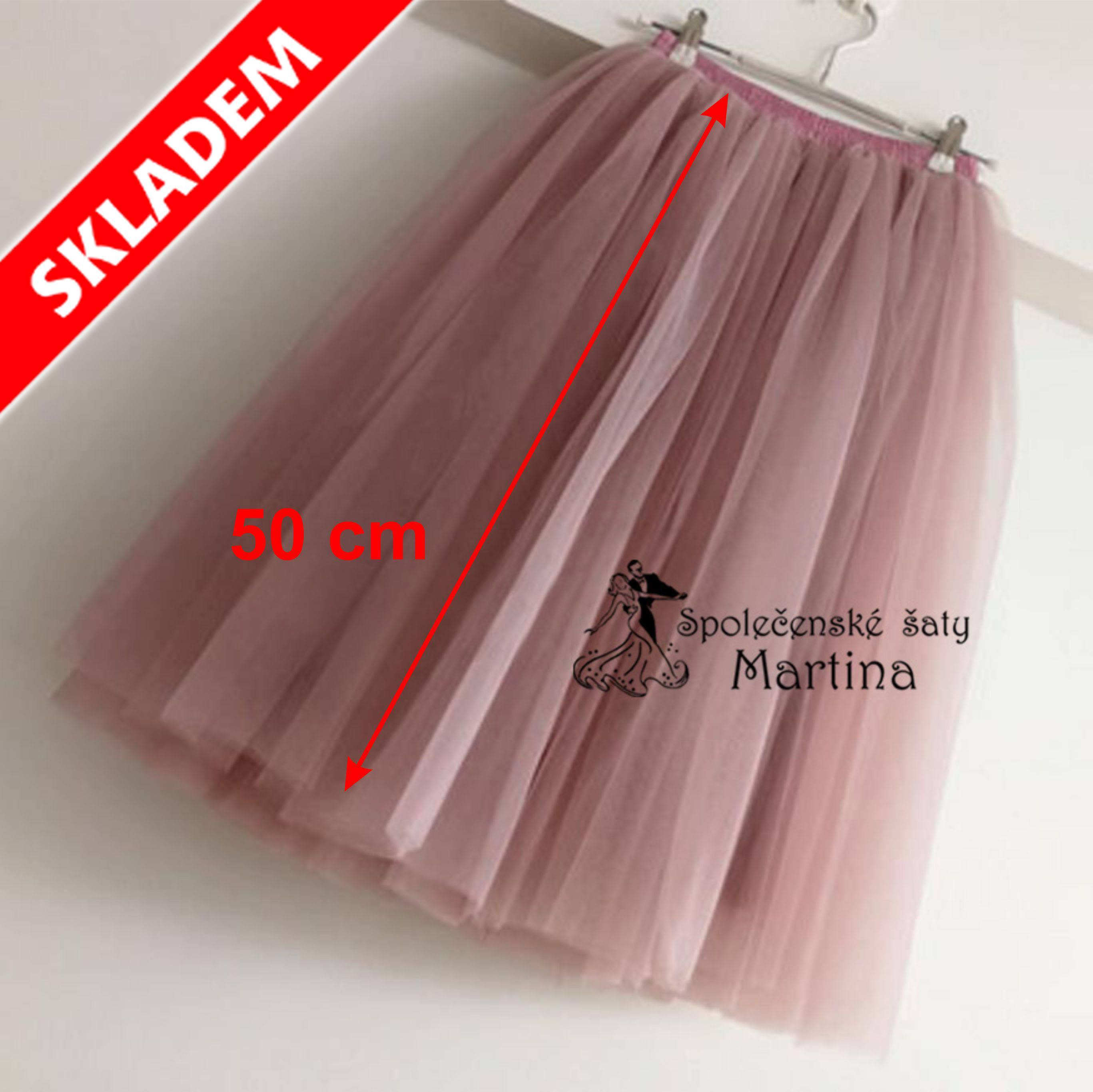 7-vrstvá tylová sukně - 50 cm  9f65b477b5