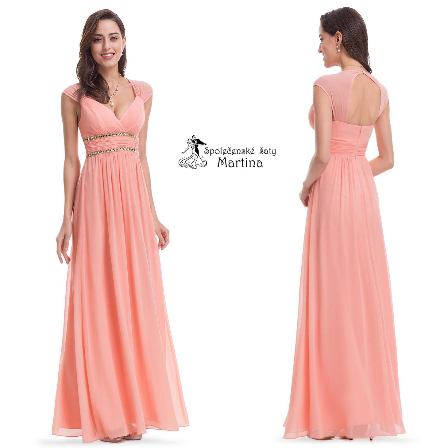 89864c439c91 Lososové šaty antického střihu