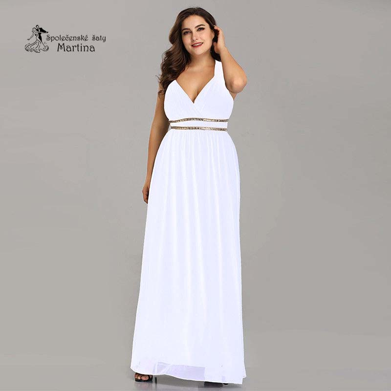 53f191435cf2 Bílé šaty antického střihu