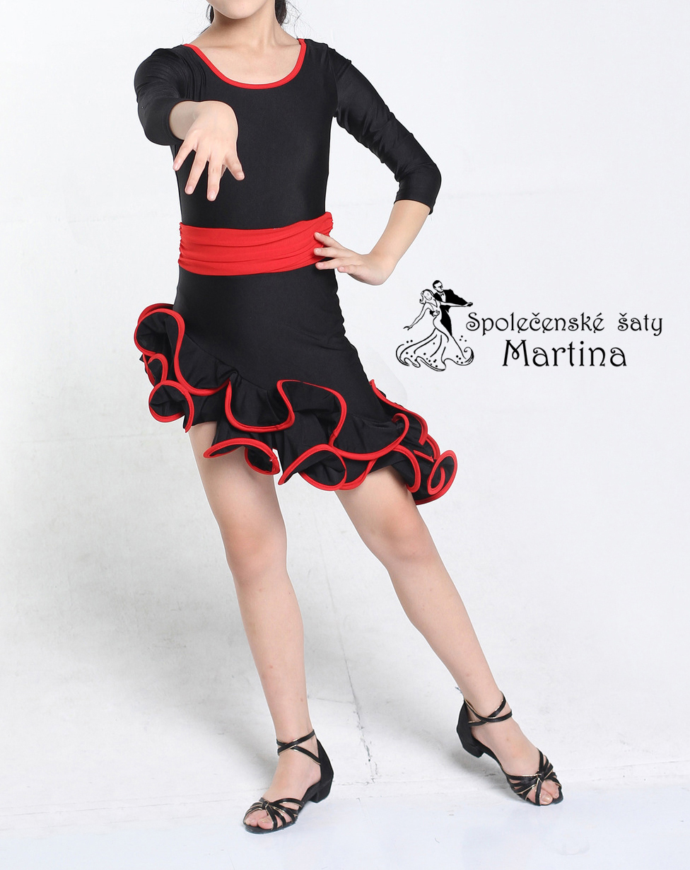 Taneční šaty na salsu latinu cha-chu  0840d9d882