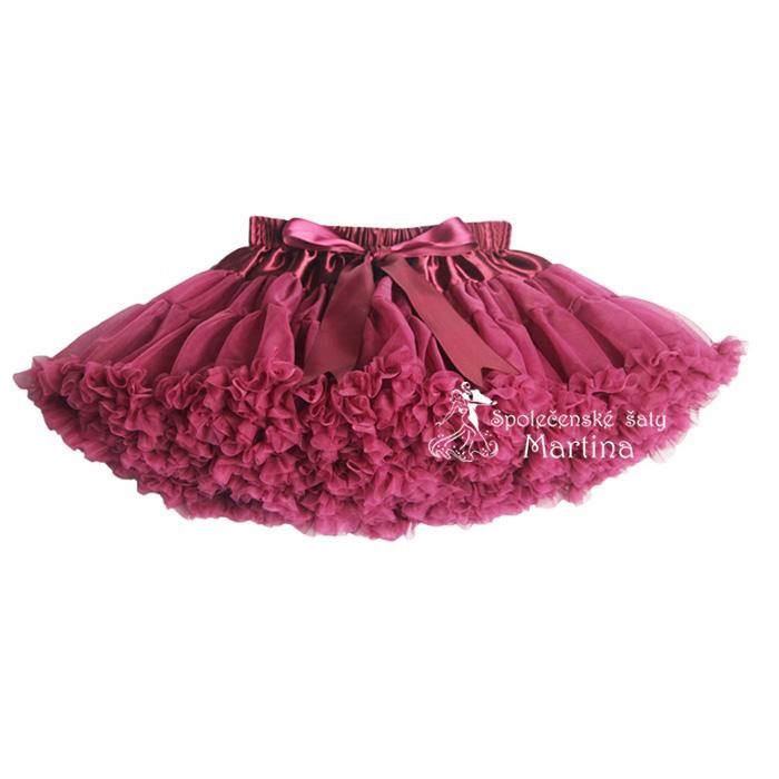 TUTU sukně ADULT - bordó 7fe845b51e