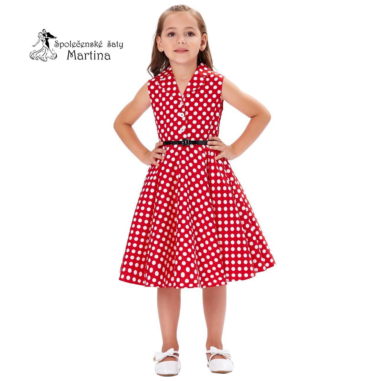 0d7037fea9f8 Retro vintage dívčí šaty