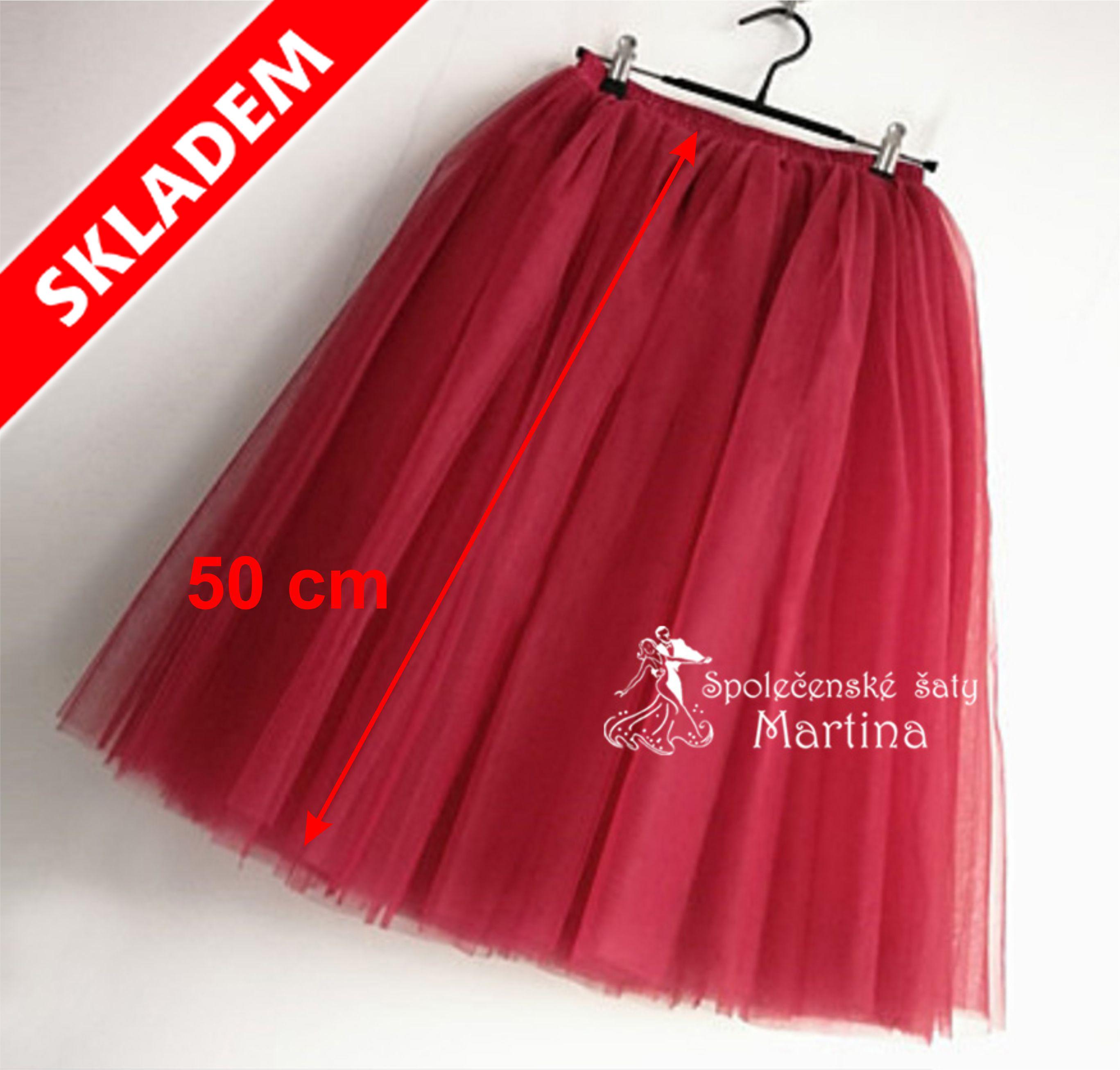 3f6e09b8959c 7-vrstvá tylová sukně - 50 cm