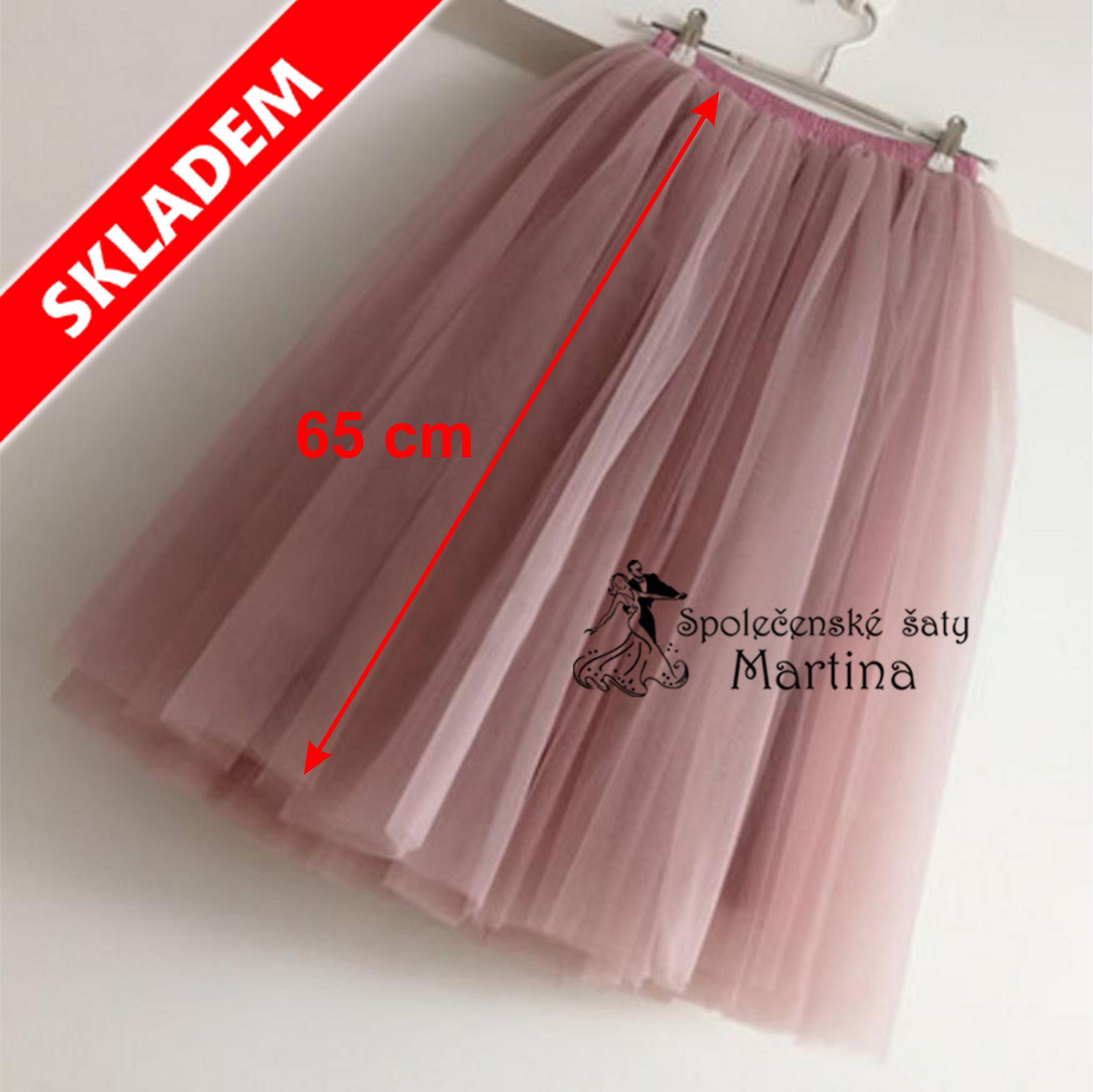 5-vrstvá tylová sukně - 65 cm 5327d3a458