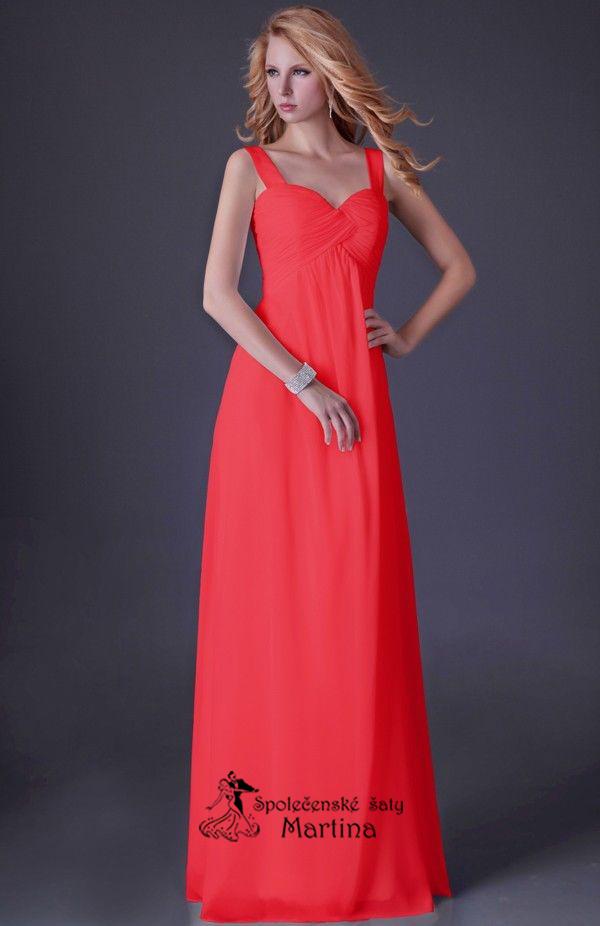 8342e79d552a Červené šifonové šaty antického střihu