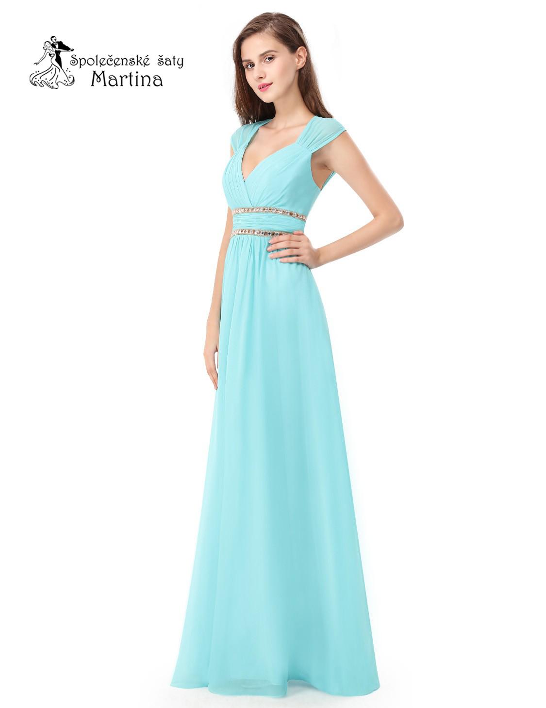 d27389be1c25 Azurové šaty antického střihu Ever Pretty EP08697AQ