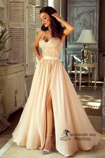 7a655109e6ba Béžové společenské šaty
